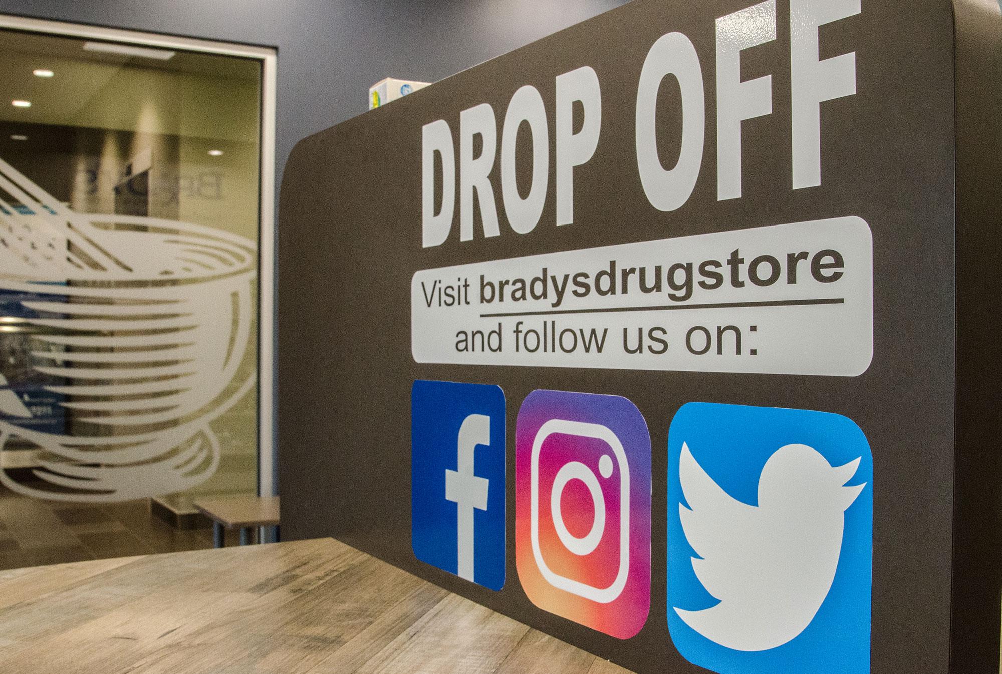 contacting Brady's Drug Store