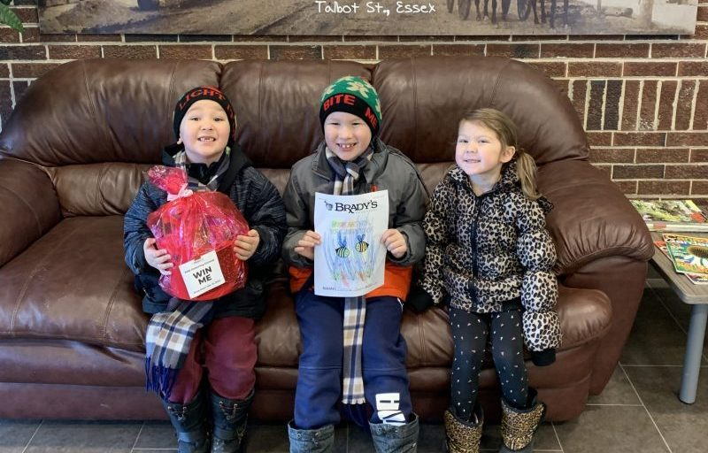 Winners of the kids colouring contest